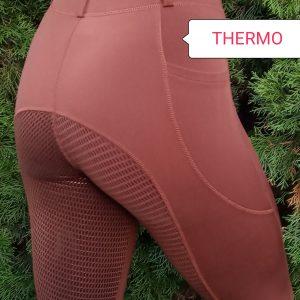 Thermo Winter Leggings Vollbesatz Silikon Braun
